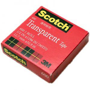 3M 思高®牌透明膠紙 600, 3M Scotch 600 Transparent Tape