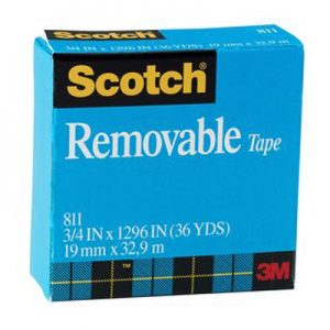 3M 思高®牌可再貼隱形膠紙 811, 3M Scotch 811 Removable Tape