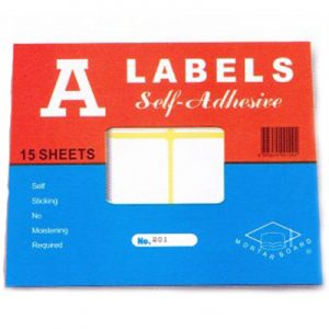Self-Adhesive A Labels
