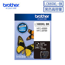 BROTHER LC669XL 黑色墨盒, BROTHER LC669XL-BK Ink Cartridges