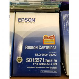 EPSON S015571, S015139 黑色針機色帶, EPSON S015571, S015139 Ribbon Cartridge Black