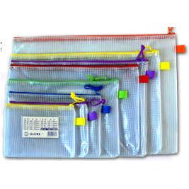 Globe 網紋單拉鍊袋