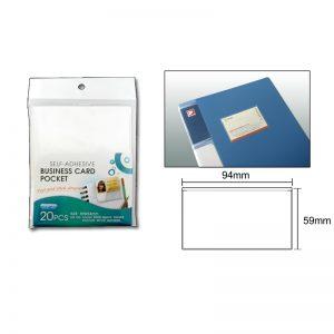 Globe YP-35 Self Adhesive Name Card Pockets