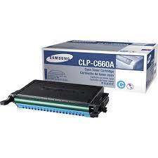 Samsung CLP-C660A 原裝藍色碳粉盒, Samsung CLP-C660A Cyan Toner Cartridge