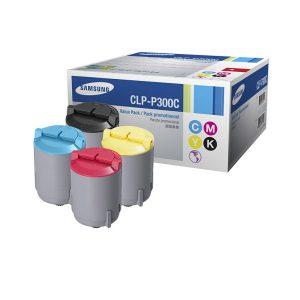 Samsung CLP-P300C (原裝)四色彩色套裝碳粉 (黑,藍,紅,黃), Samsung CLP-P300C Genuine OEM Toner Cartridges