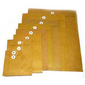 有線啡色公文袋, Brown Envelope with String