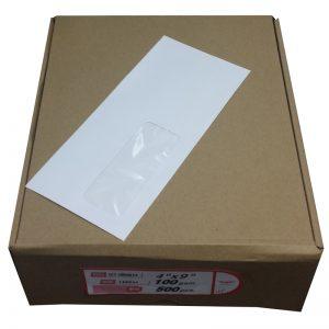 "4"" x 9"" (盒裝) 窗口信封, 4"" x 9"" Envelope with Window (Box Set)"