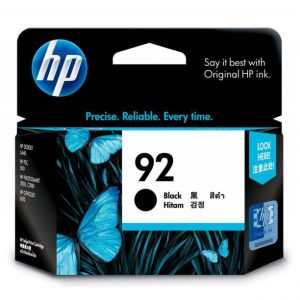 HP 92 黑色原廠墨盒, HP 92 Black Original Ink Cartridge