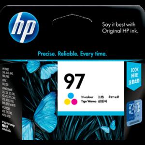 HP 97 三色原廠墨盒 (C9363WA)