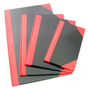 200頁紅黑面硬皮簿, Hard Cover Note Book 200 pags