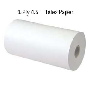 1PLY 4.5 Telex Paper