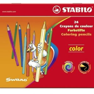 STABILO Color系列 六角形色鉛筆 鐵盒組 24色24支裝 (1824-77), STABILO Colouring Pencil color wallet of 24 assorted colours (1824-77)