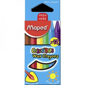 Maped 馬培德 12色彩色蠟筆 12 Colors'Peps Crayon