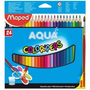 Maped 馬培德 24色水溶性木顏色筆