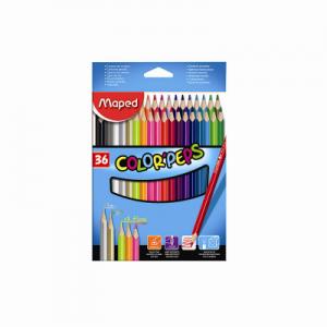 Maped 馬培德 36色木顏色筆 36 Colors Pencils