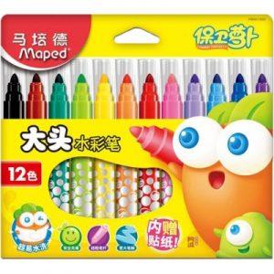 Maped 馬培德 12色大頭水彩筆 (盒裝)