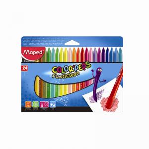 Maped 馬培德 24色塑料蠟筆 24 Colors'Peps Plasticlean Crayon