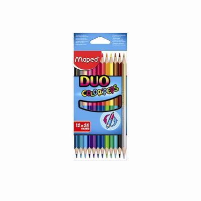 Maped 馬培德 24色雙頭木顏色筆, 24 Colors Twin Pencils