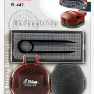 SHINY EL-442 圓型DIY摺合式套裝字粒印