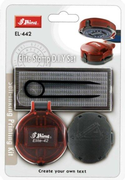 SHINY EL-442 圓型DIY摺合式套裝字粒印, SHINY EL-442 DIY Folding set word Stamp