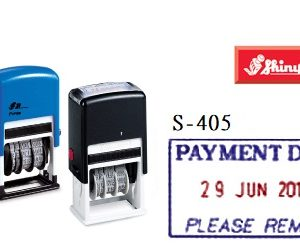 SHINY S-405 PAYMENT DUE雙色日子印