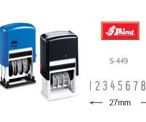 SHINY S-449 免印台9位數字印(4mm)