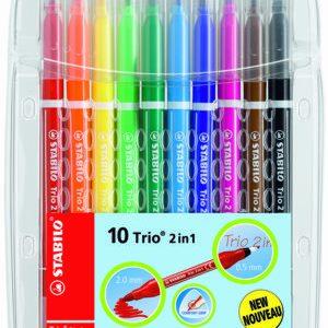 STABILO 22310 10色套裝粗幼雙頭水彩筆