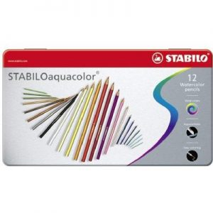 STABILO Aquacolor 1612-5 專業級木顏色(12色鐵盒裝)