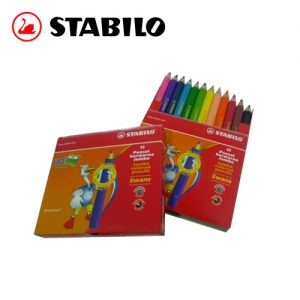 STABILO Jumbo Colored Penci 1873J 顏色筆(12色套裝)(短杆)