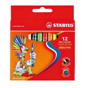 STABILO Yippy-wax 2812 12色臘筆