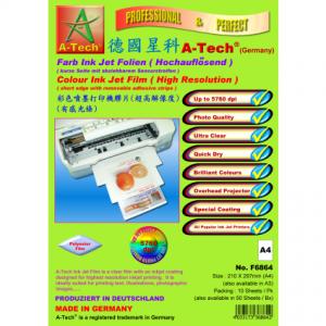 德國星科 A-Tech F6864F6964F6865 彩色噴墨打印機膠片(超高解像度 5760 dpi) A4A3, A-Tech F6862 A4/F6962 A4 Laser+Copier Film