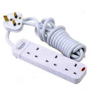孖寶拖板 Marble Extension Socket with Cord & 13A Plug