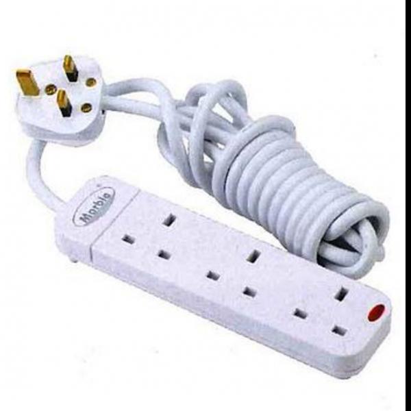 孖寶拖板 Marble Extension Socket with Cord & 13A Plug