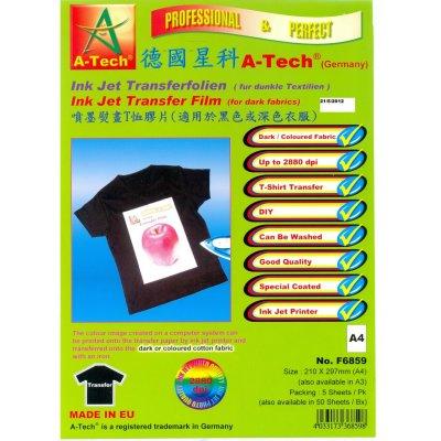 德國星科 A-Tech F6859F6860 噴墨熨畫T恤膠片(適用於黑色或深色衣服) A4A3, A-Tech F6859 A4/F6860 A3 Ink Jet Transfer Film