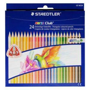 STAEDTLER 127 NC24 三角形木顏色筆24色, Staedtler Noris Club 127 - colour pencils
