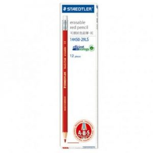 STAEDTLER 14450-29LS 可擦拭色鉛筆紅色 (12支打), STAEDTLER Noris Club 14450-29LS Erasable