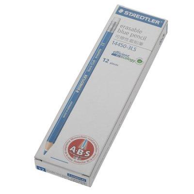 STAEDTLER 14450-3LS 可擦拭色鉛筆藍色 (12支打), STAEDTLER Noris Club 14450-3LS Erasable