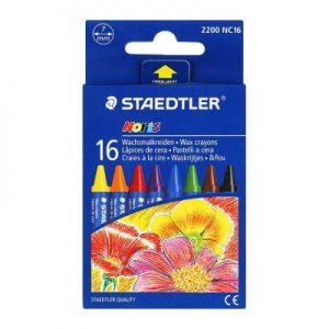 STAEDTLER 220 NC16 幼蠟筆16色, STAEDTLER 220 NC16 Wax crayon Cardboard box containing 16 wax crayons in assorted colours