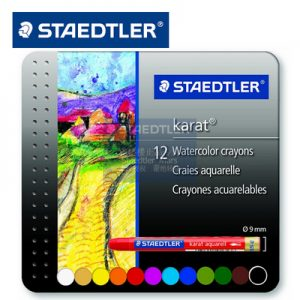 STAEDTLER 223 M12 水溶性蠟筆12色, STAEDTLER 223 M12 Karat Watercolor Crayon 12 Colour