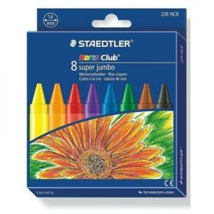 STAEDTLER 2260 NC8 珍寶特粗蠟筆 8色, STAEDTLER Noris Club 2260 NC8 Super Jumbo 8 Colour