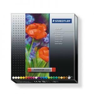 STAEDTLER 2420 C24 油粉色24色, STAEDTLER® 2420 Oil pastel C24 Cardboard box containing 24 oil pastels in assorted colours