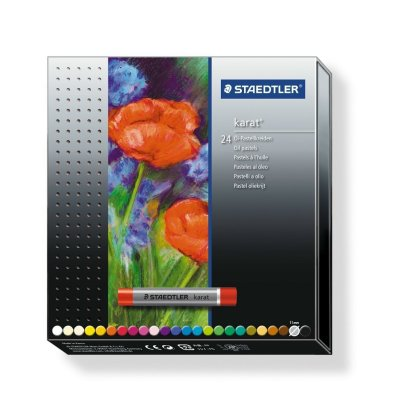 STAEDTLER 2420 C24 油粉色24色, STAEDTLER® 2420 Oil pastel C24 Cardboard box containing 24 oil pastels in assorted colours