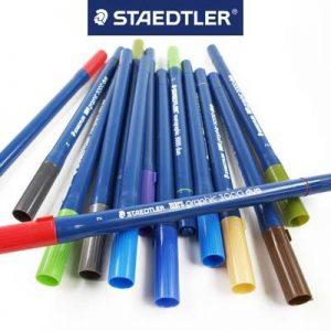 STAEDTLER 3000D 美術水彩筆80色, STAEDTLER Marsgraphic duo 3000 Double ended watercolor brush markers