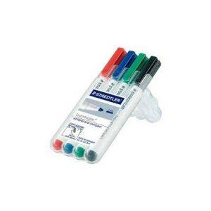 STAEDTLER 341 WP4 袖珍型白板筆4色, STAEDTLER Lumocolor® whiteboard compact 341 Handy-sized whiteboard marker