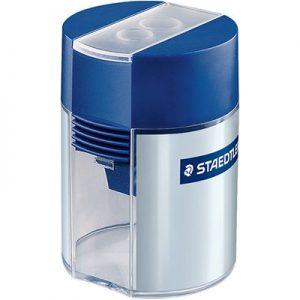 STAEDTLER 512 001 鉛筆刨 (雙孔, 鉛筆, 粗鉛筆, 顏色筆適用), STAEDTLER 512 001 Double-hole tub sharpener