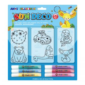 AMOS SD10B6-D1 6色玻璃彩連6細掛牌套裝, AMOS SD10B6-D1 SUN DECO