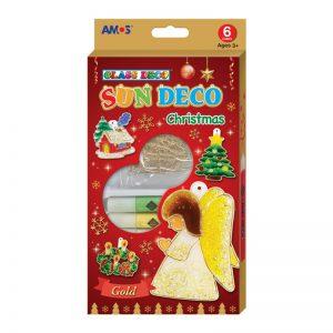AMOS SD10P6-CH 6色玻璃彩連6小掛牌套裝(聖誕版), AMOS SD10P6-CH SUN DECO