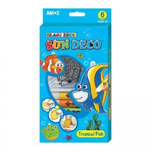 AMOS SD10P6-T 6色玻璃彩連6小掛牌套裝
