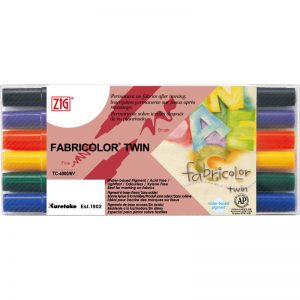 ZIG FABRICOLOR TWIN TC-40006V 雙頭布料彩繪筆 (6 色裝), ZIG FABRICOLOR TWIN TC-40006V (6 colors set)