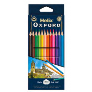 HELIX OXFORD 833222 木顏色 (12色), HELIX OXFORD 83322 COLOURING PENCILS (12 COLOURS)